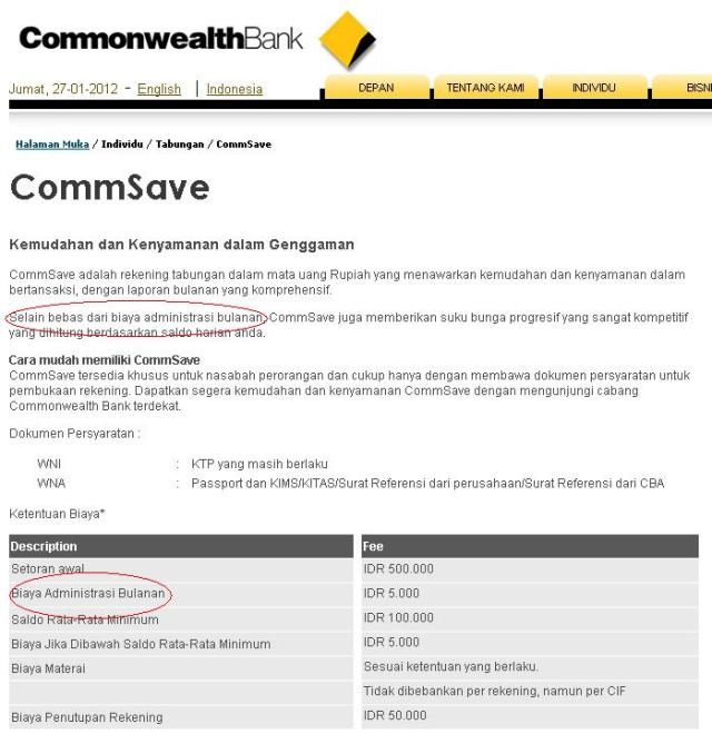 keterangan pada situs Commonwealth