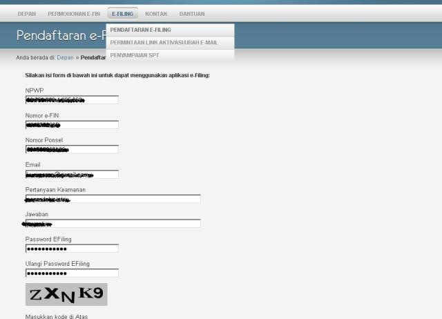 pendaftaran e-filing