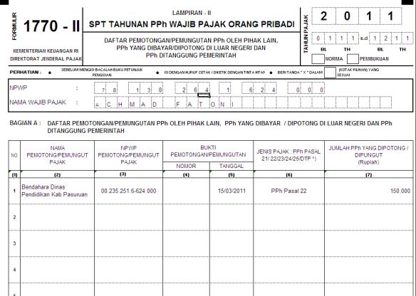 Cara Mudah Mengisi Spt Tahunan Pph Orang Pribadi 1770 Norma Kpp Pratama Pasuruan